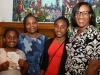 With nieces Sharon, Tammi and Nia