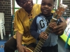 With a young fan at Goodmayes Library